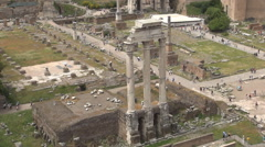 Antique Forum Archeology Museum Roman Empire City Ruins Ancient Architecture - stock footage
