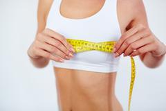 Measuring chest size Stock Photos