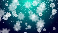 Snowflakes on lightblue background Stock Footage