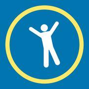 Joy icon - stock illustration