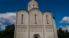 Cathedral of Saint Demetrius (XII c.), UNESCO World Heritage Site, Vladimir Stock Footage