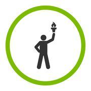 Freedom torch icon - stock illustration