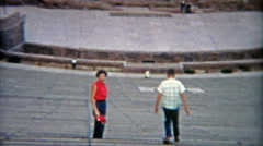 1955: People enjoying an empty Red Rocks Amphitheatre. Stock Footage