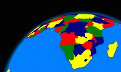South Africa on planet Earth political map Stock Illustration