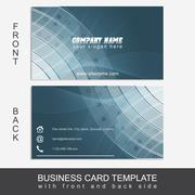 Abstract business card template or visiting card set Stock Illustration