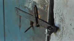 An old rustic door Stock Footage