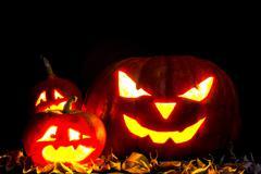 Halloween pumpkin Jack O' Lantern - stock photo