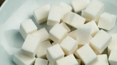 Stock Video Footage of Cubes of sugar refined
