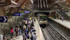 Subway station a large city - a crowd of people Timelapse - stock footage