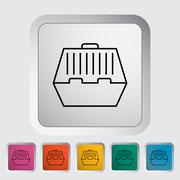 Pet carrier icon - stock illustration