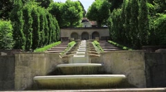 """Cascade Fountain """"Water Paradise"""" in Baden-Baden. Europe. Germany Stock Footage"""