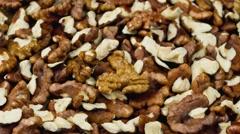 Shelled walnuts - stock footage