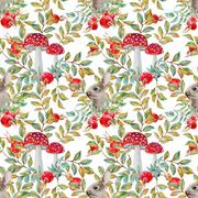 Stock Illustration of Autumn watercolor pattern