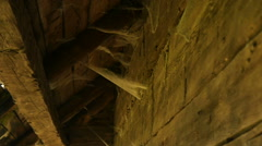 Wooden wall and roof of an old house Stock Footage