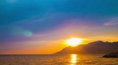 Croatia sunset Stock Footage