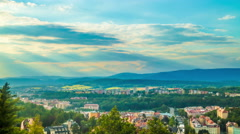 Karlovy Vary Czech Republic. Panoramic view. Stock Footage