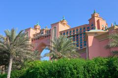 View Atlantis Hotel  in Dubai, UAE Stock Photos