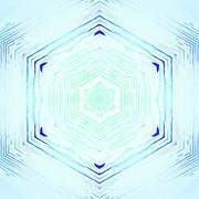 Seamless hexagon pattern turquoise shiny Stock Illustration