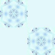 Seamless abstract snowflakes turquoise - stock illustration