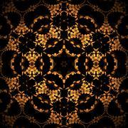 Seamless star pattern golden brown - stock illustration