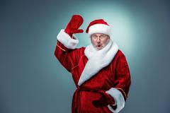 Surprised Santa Claus Stock Photos