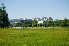 Espoo, second  biggest town in Finland Stock Photos