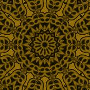 Seamless ornament golden brown - stock illustration