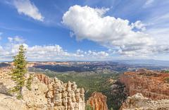 Rock formations in Bryce Canyon National Park, USA. - stock photo
