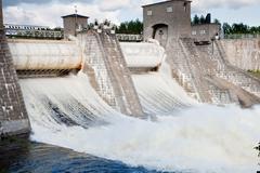 Stock Photo of City of Imatra, touristic attraction, Imatrankoski rapids