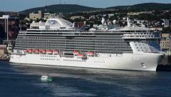 Cruise Ships in St. John's Harbour Stock Footage
