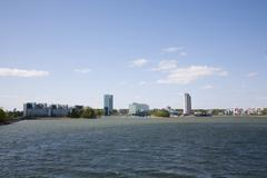 Espoo, Finland, Keilaniemi high-rise business district - stock photo