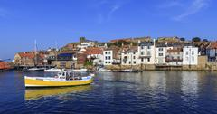 A beautiful at Whitby. Stock Photos