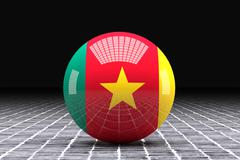 Cameroon sphere Stock Illustration