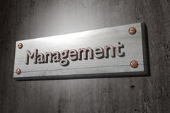 Management placard - stock illustration