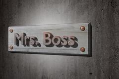 Stock Illustration of Mrs boss