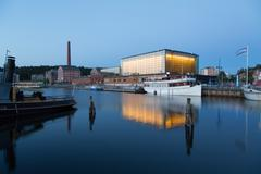 Sibeliustalo, concert and congress center in city of Lahti, Finland - stock photo
