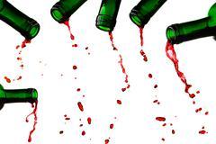 Last red wine drops Stock Photos