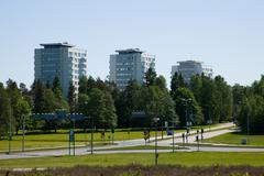 Espoo, second  biggest town in Finland - stock photo