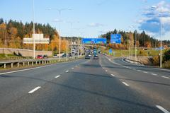 Ring 3 national highway is Espoo, Finland - stock photo
