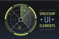 UI hud infographic interface web elements Piirros