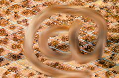 Background of rusty metal at sign symbol Stock Illustration