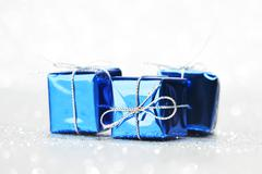 Decorative holiday gifts Stock Photos