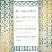 Invitation card with arabesque decor - stock illustration