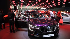 Renault Talisman at the IAA 2015 Stock Footage