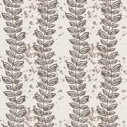 Seamless pattern of vines and leaves Stock Illustration