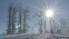 Kraljevica hill ski slopes and early morning   sun 4K 2160p UHD footage  Stock Footage