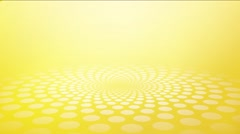 abstract yellow background made of small circles perspective - stock footage