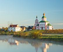 Orthodox church in city of Suzdal Russia - stock photo