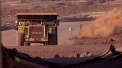 Tipper truck approach - stock footage