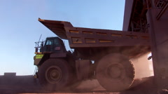 Truck tipper moves out Stock Footage